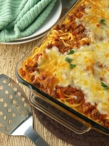 Baked Spaghetti | Kitchen Dreaming