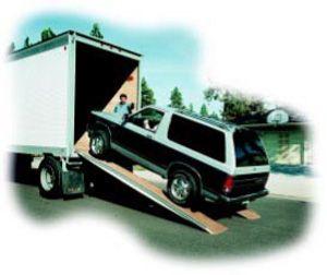 Semi, PickUp, Trailer Heavy-Duty Truck Trailer Loading Ramps - Material Handling Equipment Product Information - Auto-loader Fiberglass Loading Ramps For Pick-Ups, Trucks, Vans, & Cars. Dealer