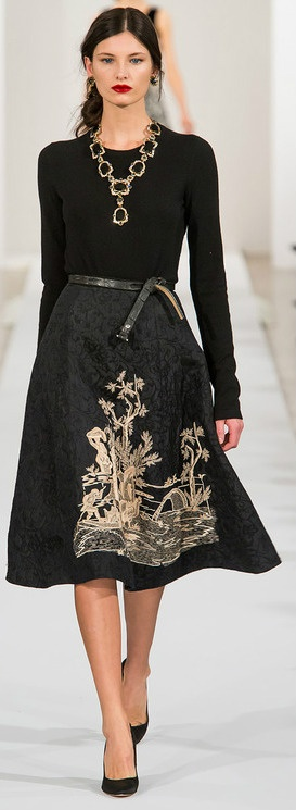 Oscar de la Renta 2013 - can't afford the real thing, but I can sure make an outfit inspired by this picture!