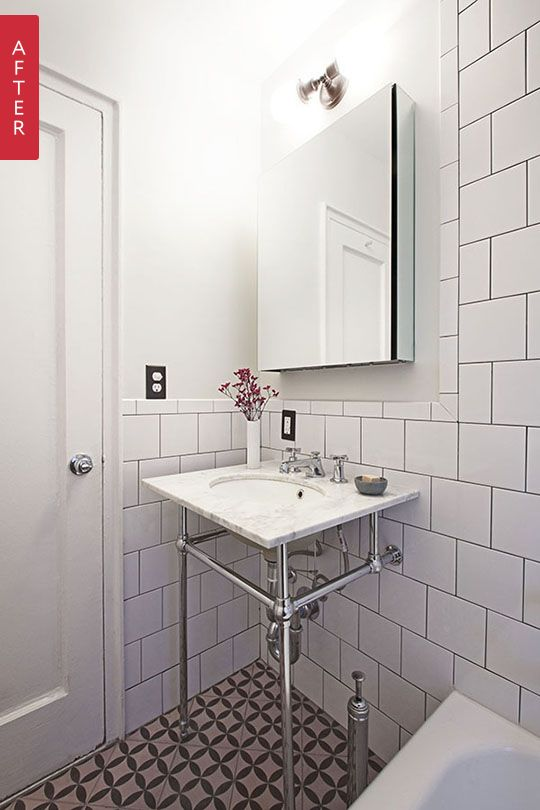 Before after a tiny vintage bathroom gets a fresh look for Bathroom 00