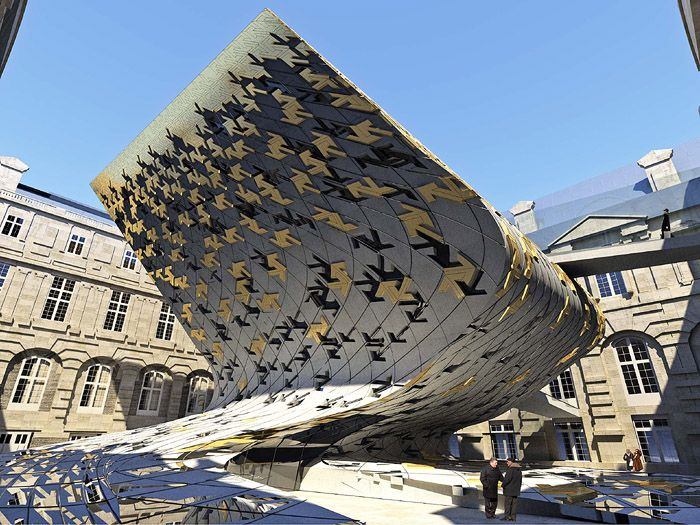 Zaha Hadid designed proposal for Islamic Art addition to Louvre