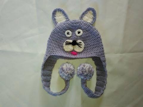 Como Hacer un Gorro Motivo Gatico En Crochet ♥Damary♥ - YouTube