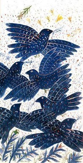 alecos-fassianos-blue-birds-oil-on-canvas-on-mutualartcom-1386086775_b.Jpeg (289×570)