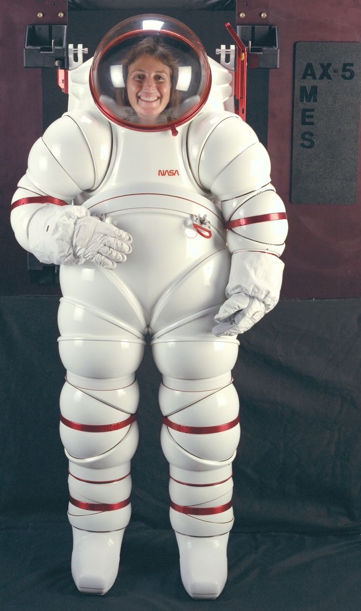 The experimental Ames AX-5 rigid spacesuit of NASA from 1988