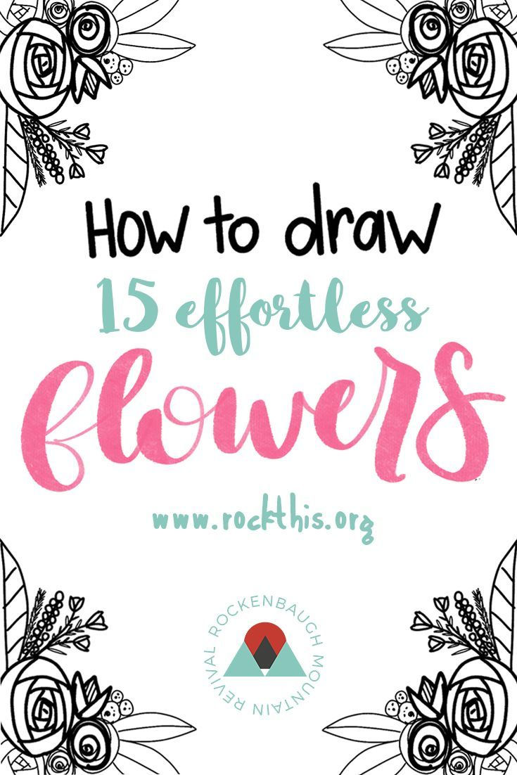 How To Draw 15 (effortless) Flowers For Bible Journaling