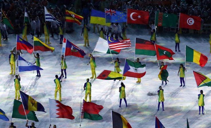 Einer der Höhepunkte war der Auftritt der Athleten im Maracanã-Stadion. Für...