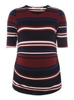 Womens **Maternity Multi Coloured Ruched Side T-Shirt- Fl Multi