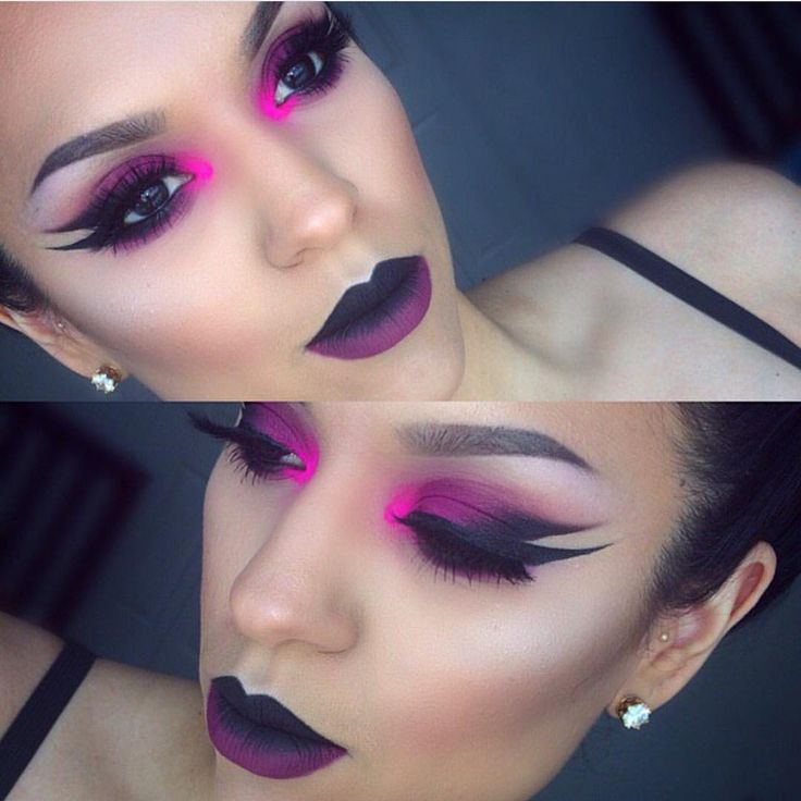 """Jeffree Star Cosmetics on Instagram: """"Good morning beauties woke up and saw @dmr319's face and cried with how FIERCE this look is!!! she used our #velourliquidlipstick in shade #Weirdo ombréd w. @doseofcolors #BerryMe"""""""