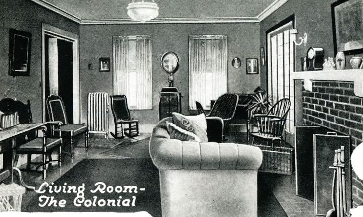 The 1920 Catalog Showed This Interior Shot Of The Colonial
