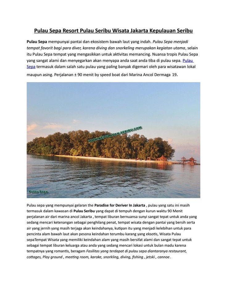 Pulau Sepa Resort Pulau Seribu wisata jakarta kepulauan seribu