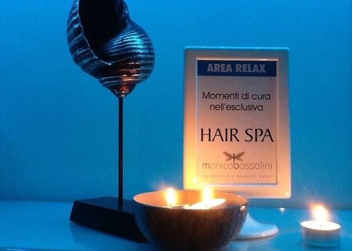 Area relax per la cura dei capelli