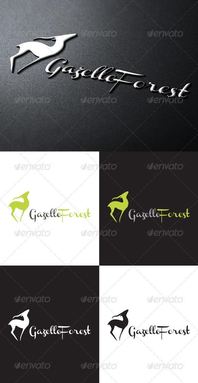 Gazelle Forest Logo - GraphicRiver Item for Sale