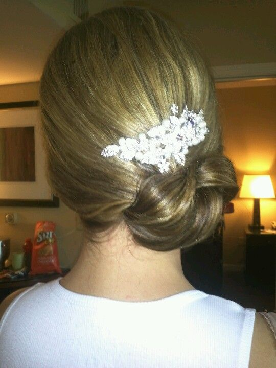 wedding hair side knot
