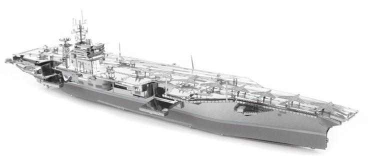 3D kovové puzzle METAL EARTH ICONX: Letadlová loď USS Theodore Roosevelt CVN-71