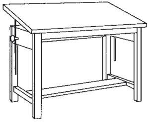 Mayline Group Wood Four Post 60u0027u0027W Drafting Table By Mayline. $1295.99