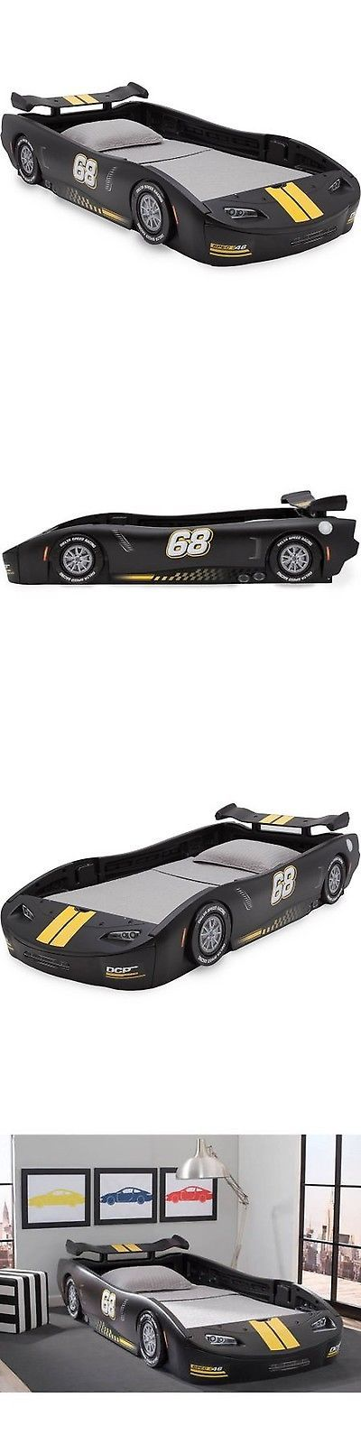 Kids Furniture: Delta Children Turbo Race Car Twin Bed Choose Your Color Black BUY IT NOW ONLY: $215.99