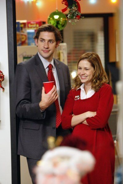 Jenna Fischer, John Krasinski, and Angela Kinsey in The Office (2005)