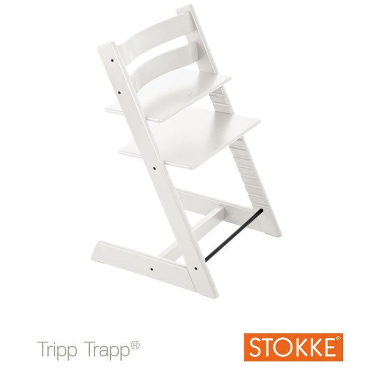 Chaise haute Tripp Trapp® Blanc de Stokke®, Chaises hautes évolutives : Aubert
