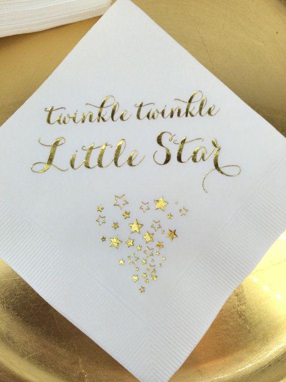 50 Personalized Napkins Baby Shower Twinkle by MemorableWedding