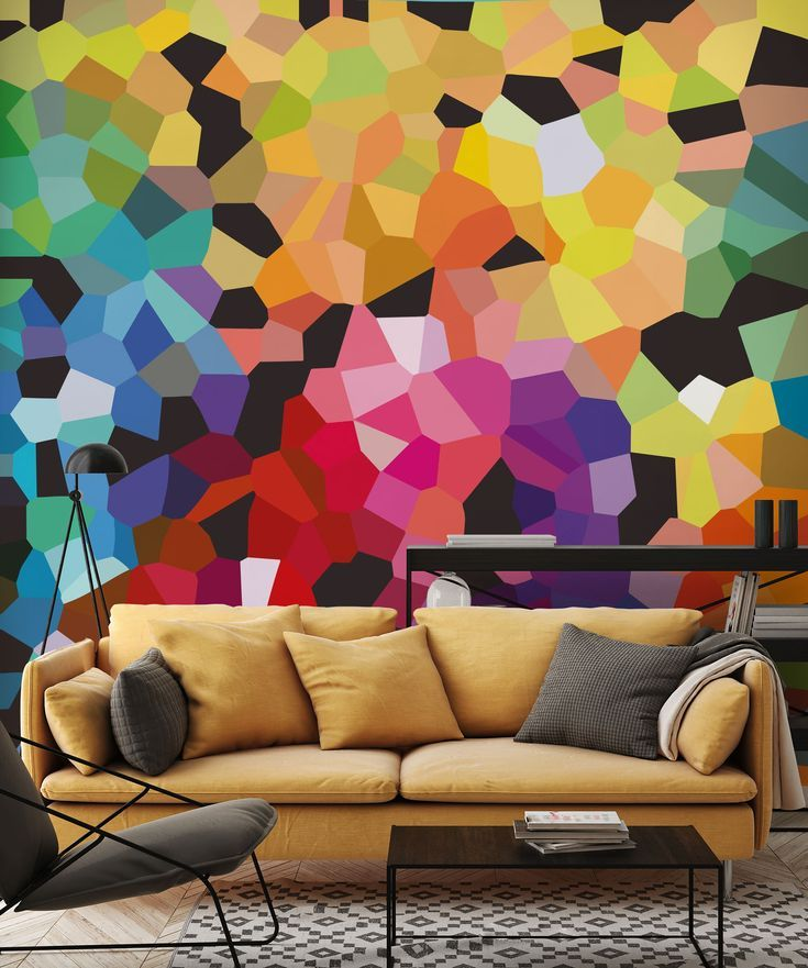 Stunning Abstract Wall Mural Fooling Around From Wallsauce This High Quality Wallpaper Is Custom Made To Your Dimensi Mural Wallpaper Abstract Wallpaper Mural
