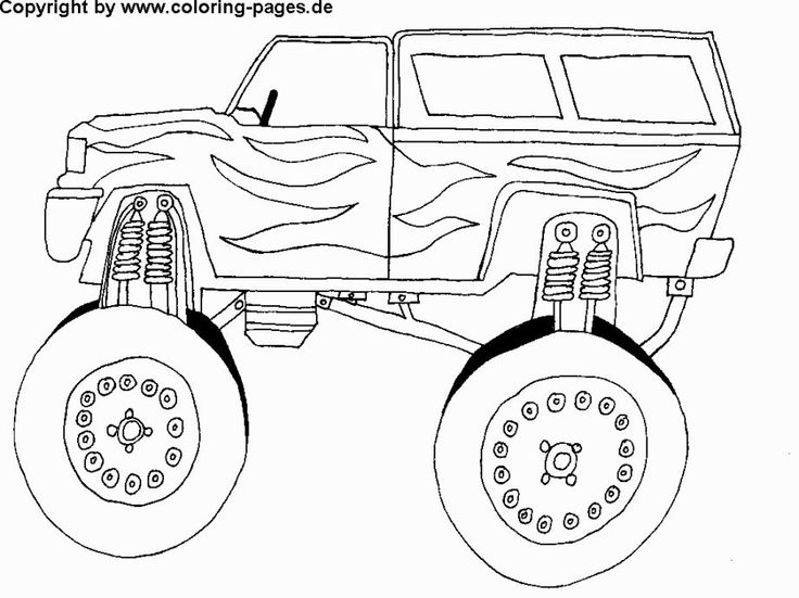 21 best Monster Truck coloring for my boy!! images on Pinterest - best of free coloring pages big trucks
