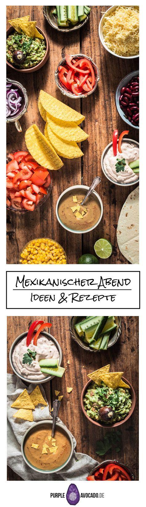 Rezepte und Inspiration für einen veganen / vegetarischen mexikanischen Abend mit Tortillas, Tacos, Gemüse und Rezepten für verschiedene Dips, sowie Blumenkohl Wings und pulled BBQ jackfrucht