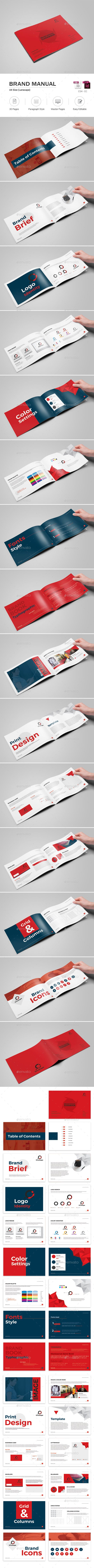 Brand Manual by OrcShape Brand Manual Template can be used for any business purpose or others Projects. Very easy to Customize. Features: A4 Size Landscap