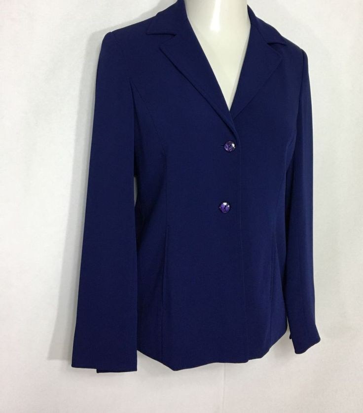 Womens GIANNI Purple Blazer | Lined 2 Button w/ Collar Suit Jacket (6) #Gianni #Blazer
