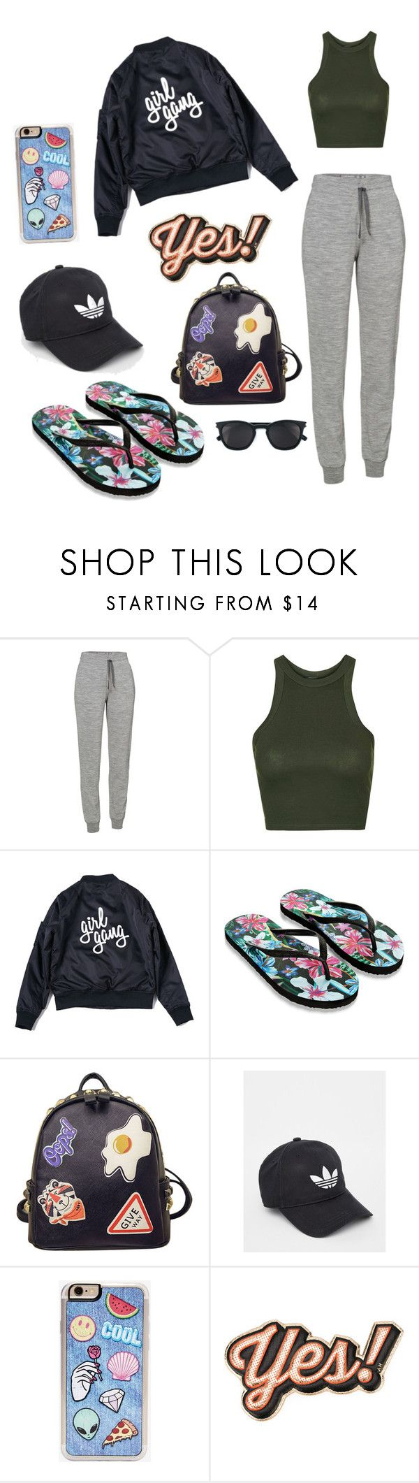 """Girl gang"" by mayarocha31 ❤ liked on Polyvore featuring Icebreaker, Topshop, Accessorize, WithChic, adidas, Zero Gravity, Anya Hindmarch and Yves Saint Laurent"