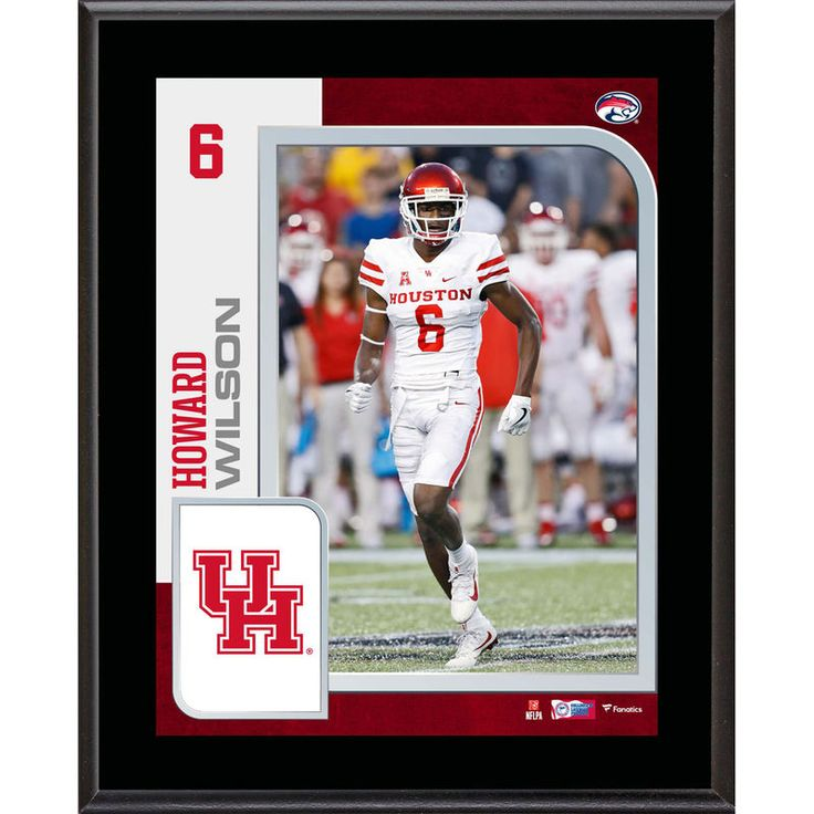 "Howard Wilson Houston Cougars Fanatics Authentic 10.5"" x 13"" Sublimated Player Plaque"
