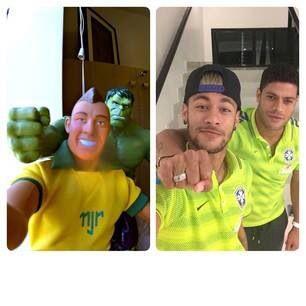 #neymar #hulk #Brasil