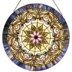 Edwardian Man Stained Glass Panel [CH22322PN] - $133.95 : Home and Garden Decor