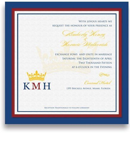 220 Square Wedding Invitations - Monogram Crown Apparent by WeddingPaperMasters.com. $561.00. Now you can have it all! We have created, at incredible prices & outstanding quality, more than 300 gorgeous collections consisting of over 6000 beautiful pieces that are perfectly coordinated together to capture your vision without compromise. No more mixing and matching or having to compromise your look. We can provide you with one piece or an entire collection in a one sto...
