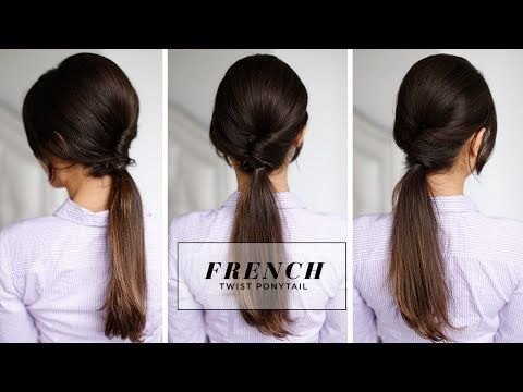 French Twist Ponytail - This is really pretty and looks easy enough that maybe even I could do it!