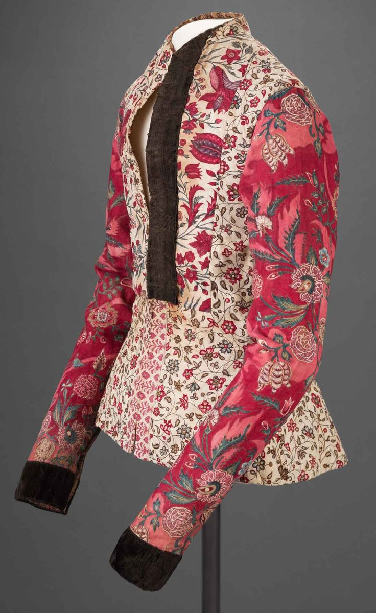 Woman's Jacket, Coromandel Coast, India (chintz), and Hindeloopen, The Netherlands (construction), mid-18th century.