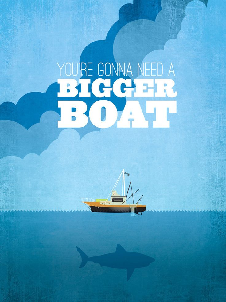 Jaws quote, looks really good, you don't even need the name of the film on the poster because you can tell what it is from the quote and the design