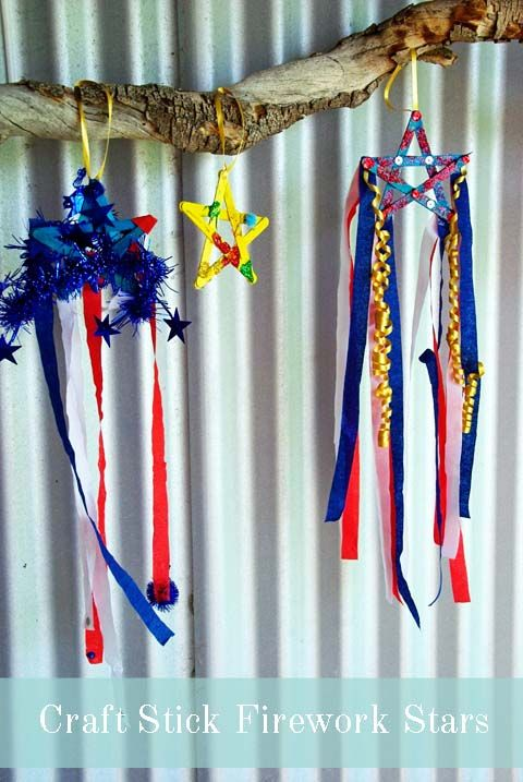 Craft Stick Firework Star - fun and easy craft for kids