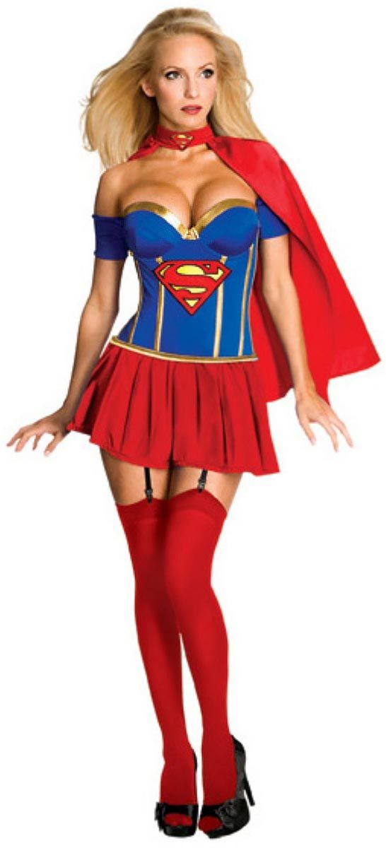 Justice League Sexy Supergirl Corset Costume Adult