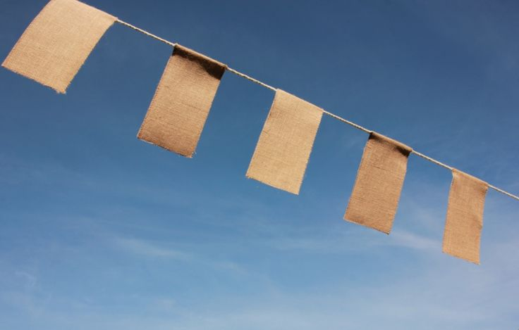 Hessian bunting for hire for any outdoor event or party