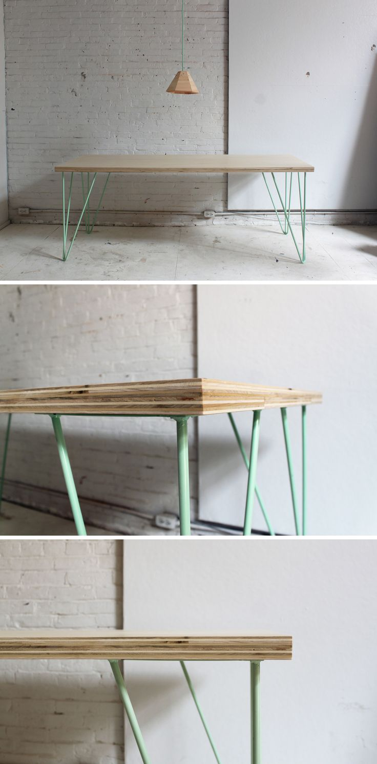 This Easy Table Is Super Simple To Make With A Sleek Mid Century Modern Look