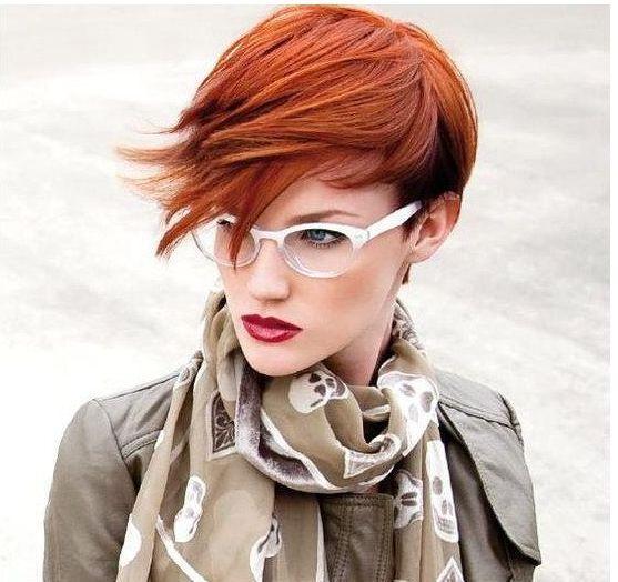Intense Copper Blonde. with Orange/Red