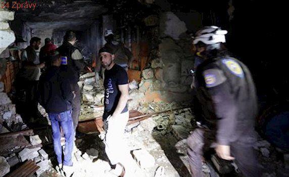Při náletu na Idlib se lidé dusili s pěnou u úst. Syrská armáda prý použila plyn