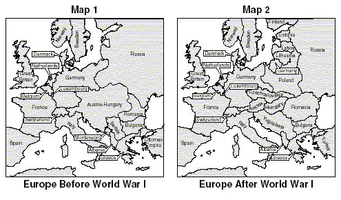 new countries formed as a result of ww1