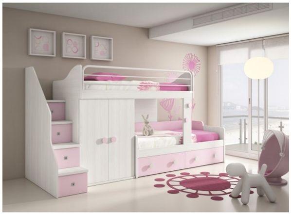Cama tipo litera para ni a dormit bebe y ni os pinterest - Ikea habitaciones infantiles literas ...