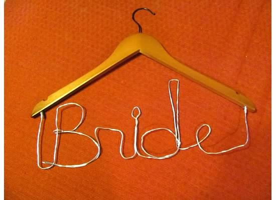 Personalized Hanger -- the letters are harder than you think but turned out pretty good!