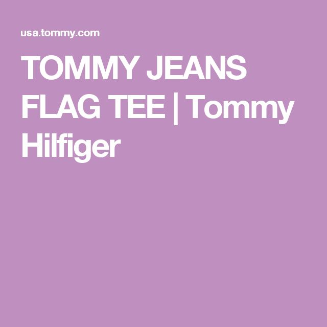 TOMMY JEANS FLAG TEE | Tommy Hilfiger