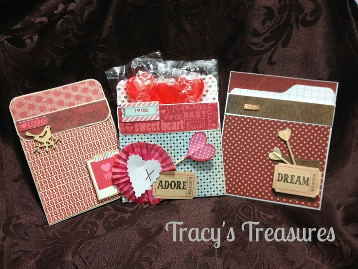 Tracys Treasures: Valentines Treat Pocket Class…using up your scraps