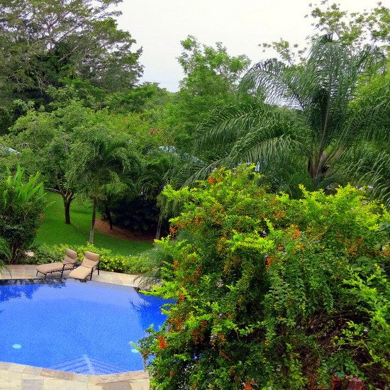The two-level pool outside of our suite in western Belize.