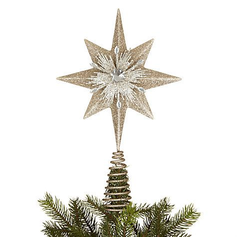 Buy John Lewis Ruskin House Starburst Tree Topper, Champagne Online at johnlewis.com