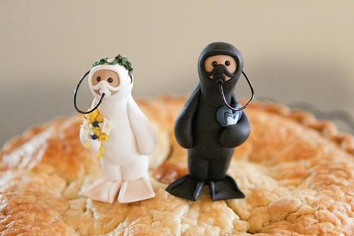 Underwater Cake Topper couple